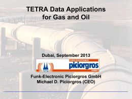 TETRA - SCADA and Telemetry Solutions