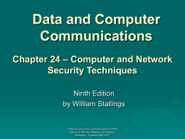 Chapter 24 - William Stallings, Data and Computer