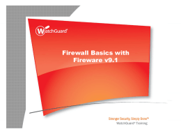 Firewall Basics with Fireware for WSM v9.0