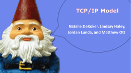 TCP/IP Model - Lindsay C Haley's ePortfolio