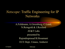 Netscope: Traffic Engineering for IP Networks