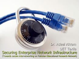 Network Security - University of Engineering and Technology
