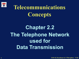 Telecommunications Concepts - ETRO