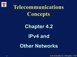Telecommunications Concepts - Vrije Universiteit Brussel