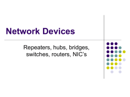 Network Devices - Eastern Oregon University