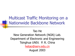 Statistical Characteristics of Multicast Traffic on a