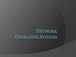 Network operating systems - Warsaw School of Economics