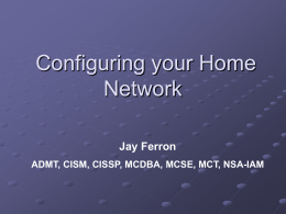 Configuring your Home Network