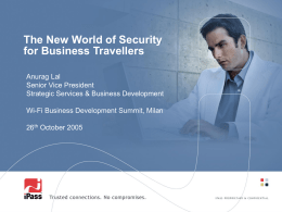 The New World of Security for Business Travellers