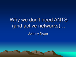 Why we don't need ANTS…