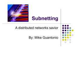 Subnetting - Edinboro University of Pennsylvania