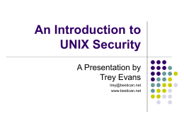 An Introduction to UNIX Security