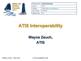 ATIS Interoperability - GSC-16