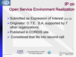 IP on Open Service Environment Realization
