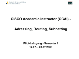 CISCO Acadamic Instructor (CCAI)