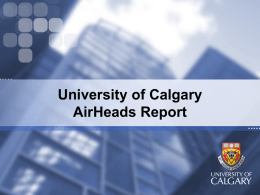 AirHeads - University of Calgary
