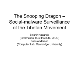 Social-malware Surveillance and the Tibetan