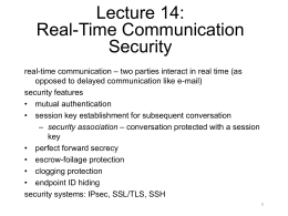 Real-time security