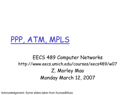 PPT:PPP,ATM,MPLS