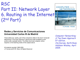 Network Layer - Universidad Carlos III de Madrid