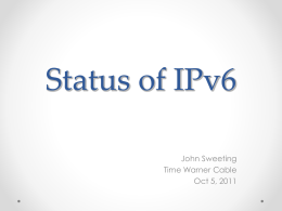 The Road to IPv6