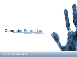 Computer Forensics - FSU Computer Science Department