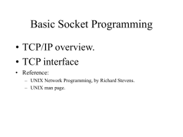 Basic socket programming (TCP)
