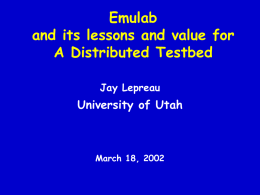 emulab.net: A Network Emulation and