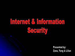 Internet Security - Department of Information Technology