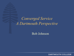 Dartmouth Computing Services: An Overview