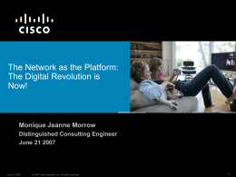 The Network as The Platform: The Digital Revolution is Now