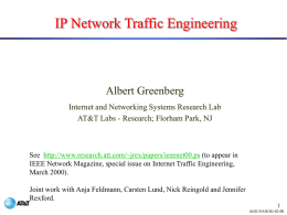 WorldNet Data Warehouse Albert Greenberg albert