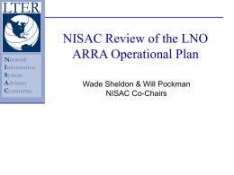NISAC Op Plan Review