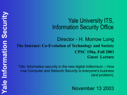 Yale University ITS Information Security Office