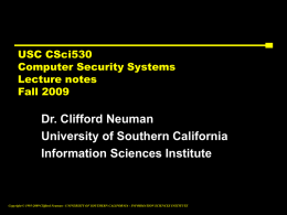 Lec 5 PPT - Center for Computer Systems Security