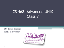 PowerPoint File - Regis University: Academic Web Server for Faculty