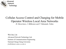 Cellular Access Control and Charging for Mobile Operator Wireless