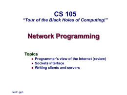 Network Programming - HMC Computer Science