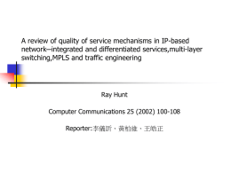 A review of quality of service mechanisms in IP