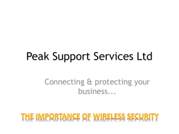 Peak Support Services Ltd