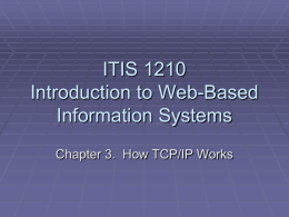Chapter 3: How TCP/IP Works