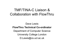 tmf-tina-collab-feb99 - UCL Computer Science
