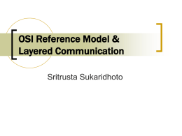 OSI Reference Model & Layered Communication