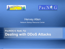 security-ddos - Network Startup Resource Center