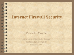 Internet Firewall Security