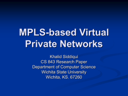 MPLS-based Virtual Private Networks