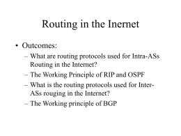 Routing in the Inernet