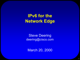 IPv6: The New Version of the Internet Protocol
