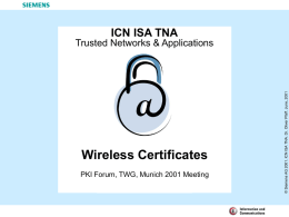 Wireless Certificates
