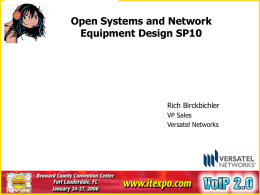 Open Systems & Network Equipment Design